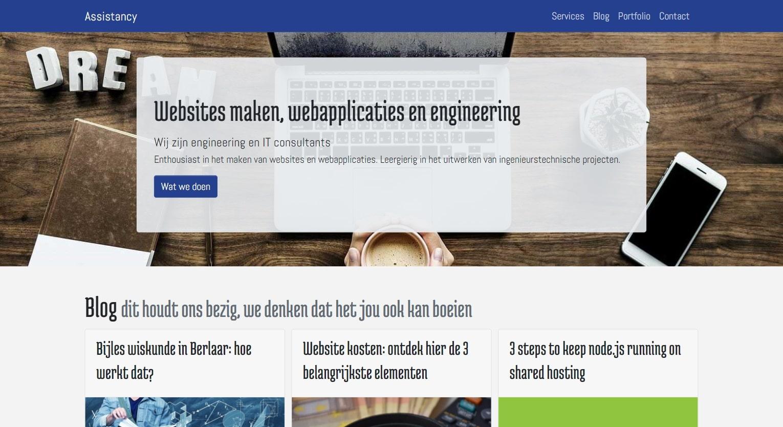 assistancy responsive website front laptop